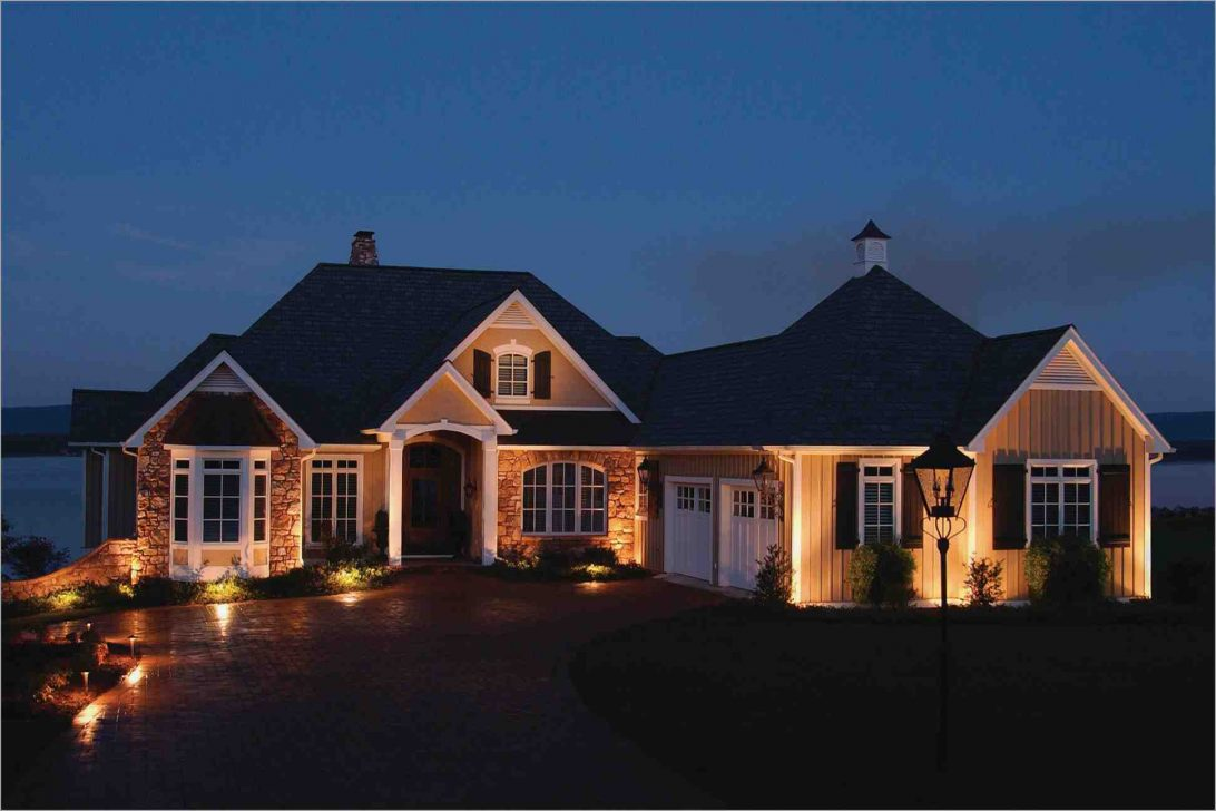 Outdoor lighting in front of the house