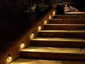 Outdoor lighting for stairs